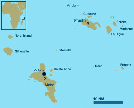 The Seychelles Petit Amour Villa - Indian ocean seychelles map